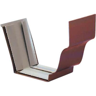 Spectra Metals 5 In. Aluminum Brown Slip-Joint Gutter Connection