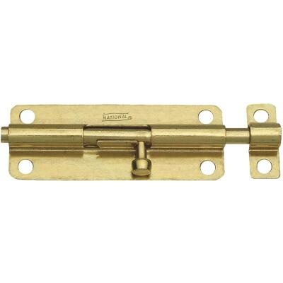 National 5 In. Brass Steel Door Barrel Bolt