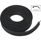 National Garage Door 16 Ft. Black Vinyl Weatherstripping For Wood Door Image 1