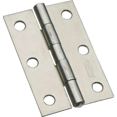 National 3 In. Zinc Tight-Pin Narrow Hinge (2-Pack)