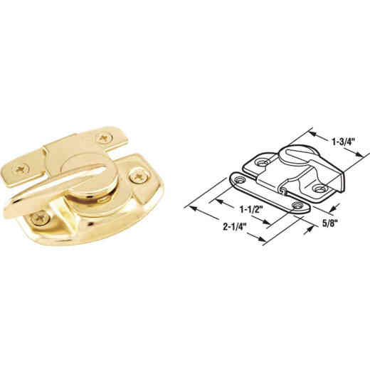 Defender Security Double Hung Brass Sash Lock