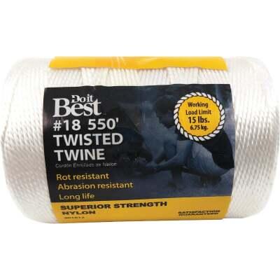 Do it #18 x 550 Ft. White Nylon Twisted Twine