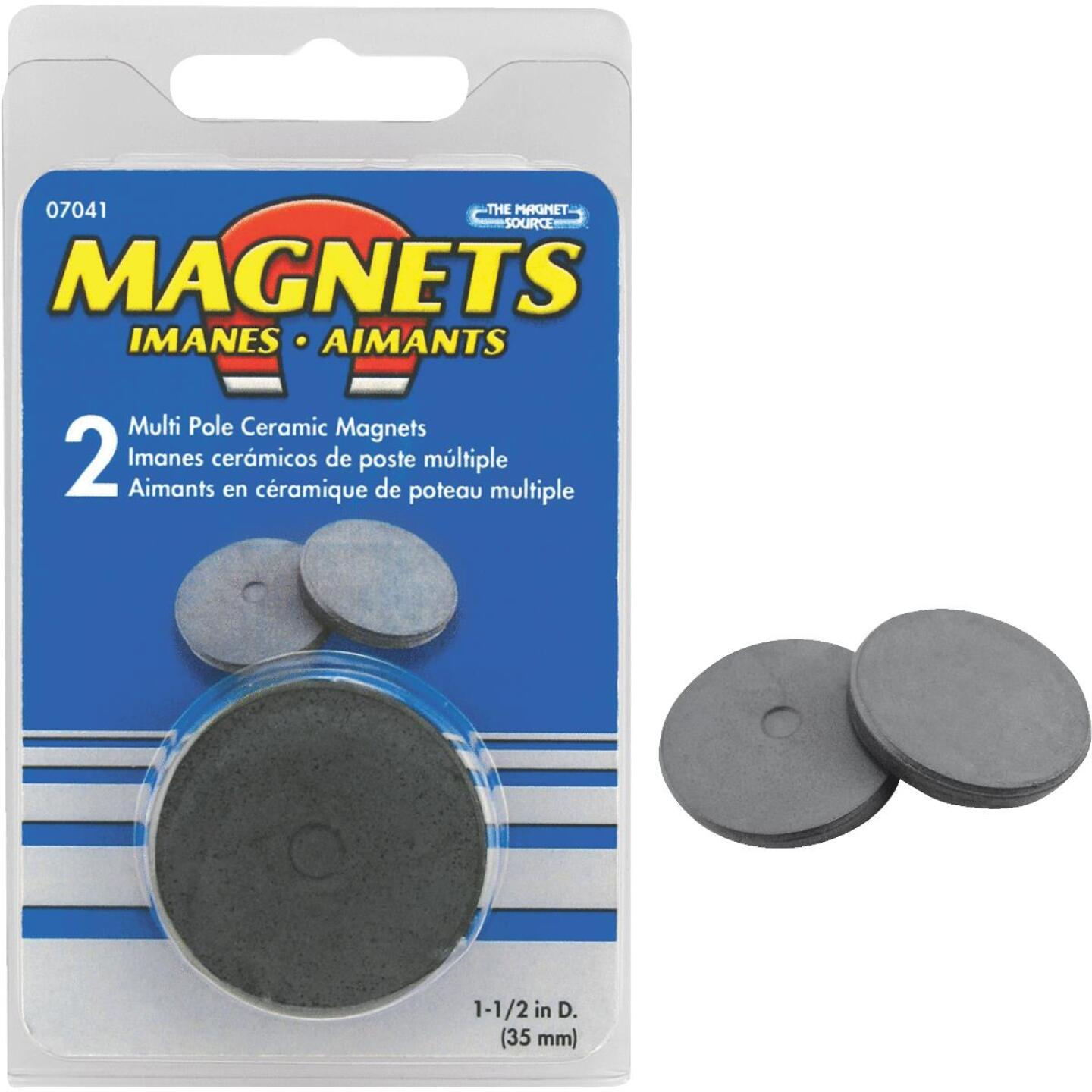 Master Magnetics 1-1/2 In. Multi Pole Ceramic Magnet Disc (2 per Pack) Image 1