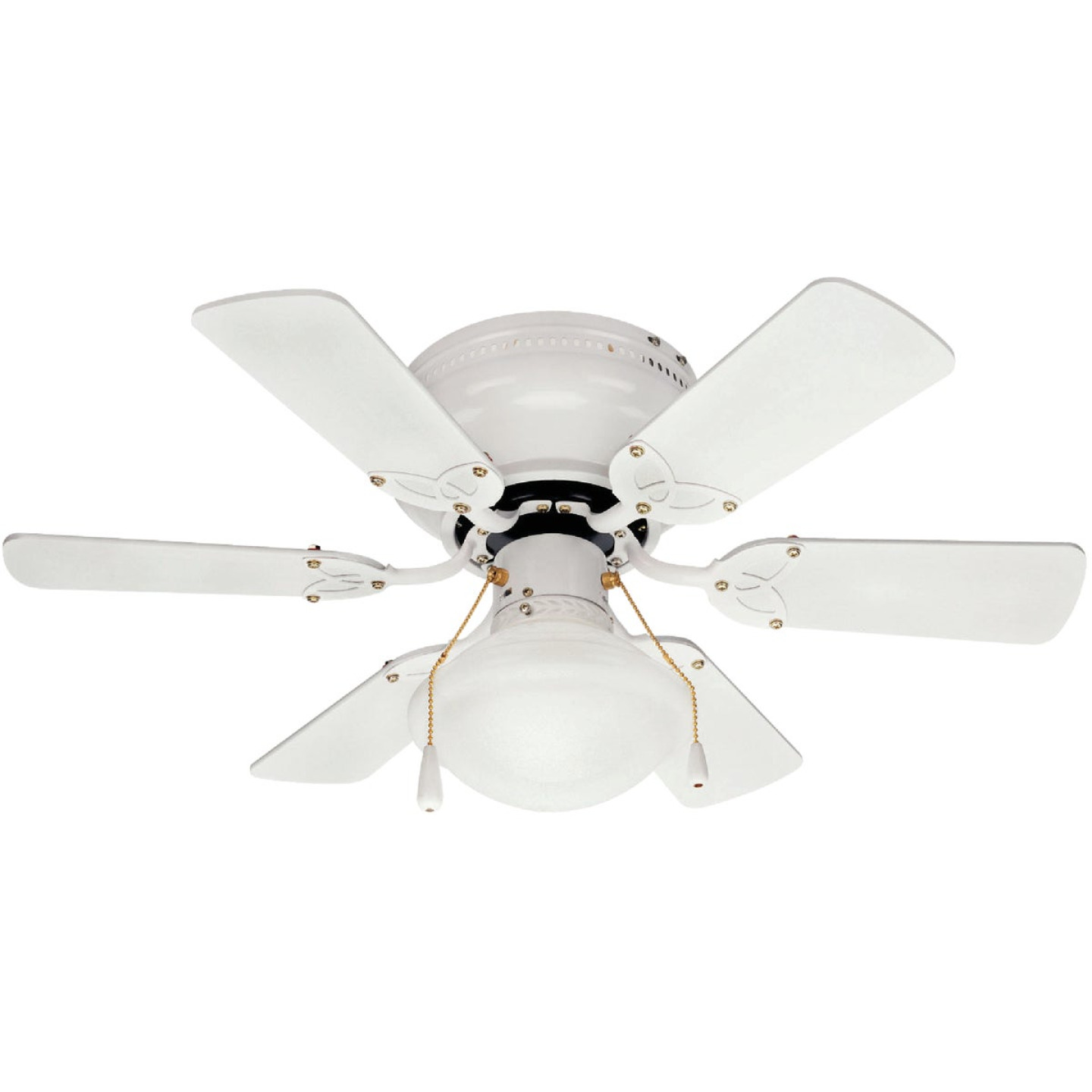 Home Impressions Twister 30 In. White Ceiling Fan with Light Kit Image 1