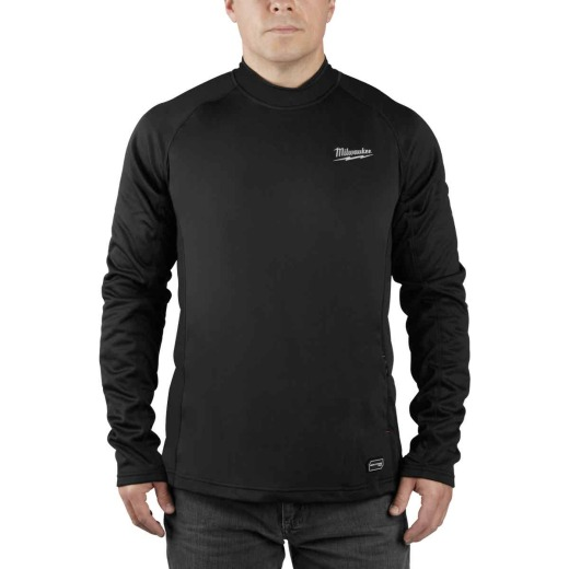 Milwaukee Workskin Medium Black Heated Midweight Base Layer Shirt