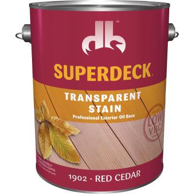 Duckback SUPERDECK VOC Transparent Exterior Stain, Red Cedar, 1 Gal.
