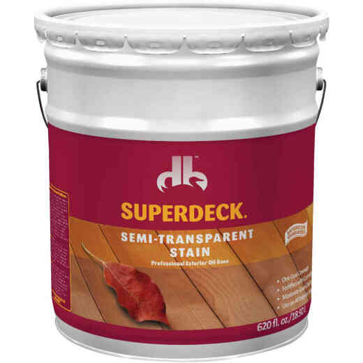 Duckback SUPERDECK Semi-Transparent Exterior Stain, Cedar, 5 Gal.