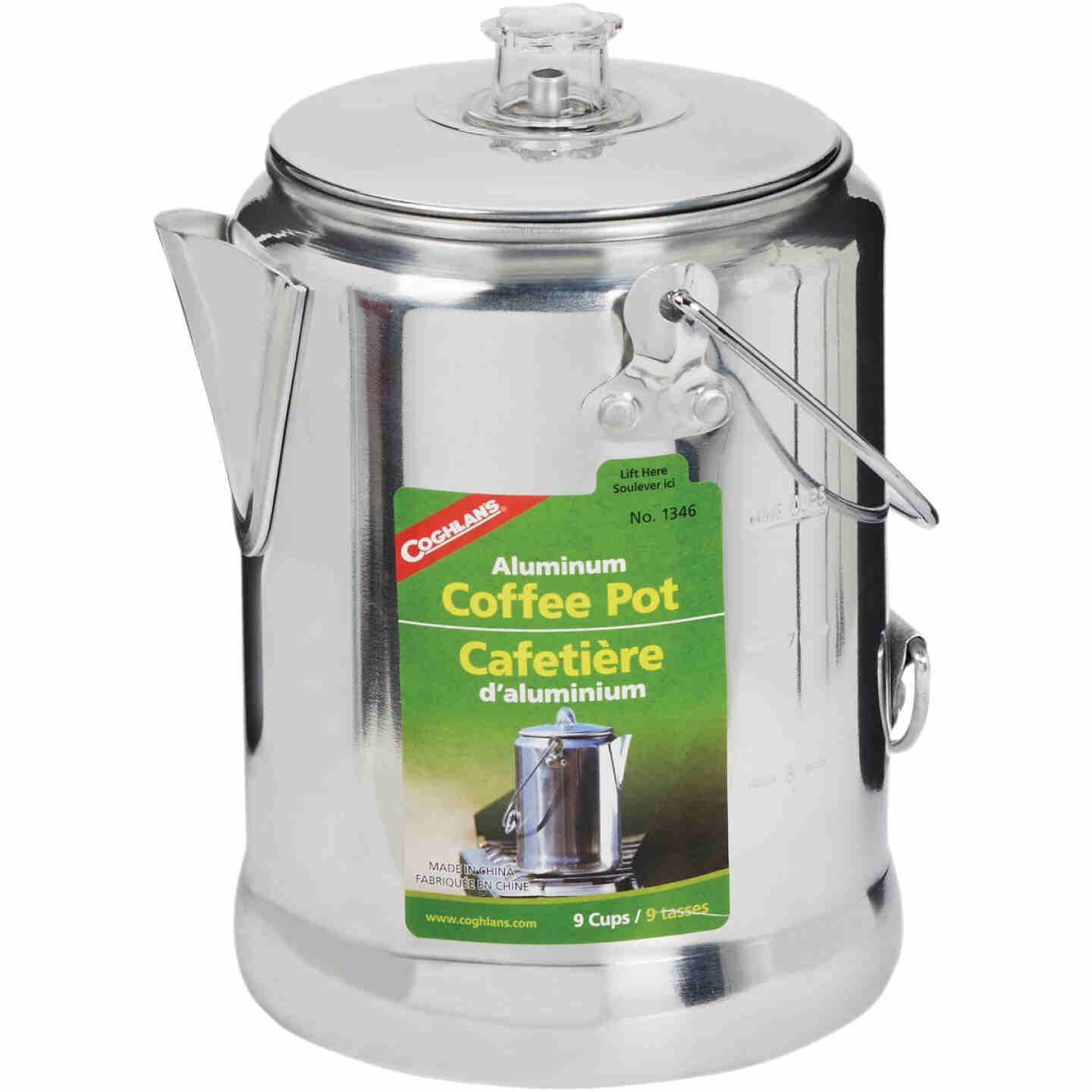 Coghlans 9-Cup Aluminum Camping Coffee Pot Image 1