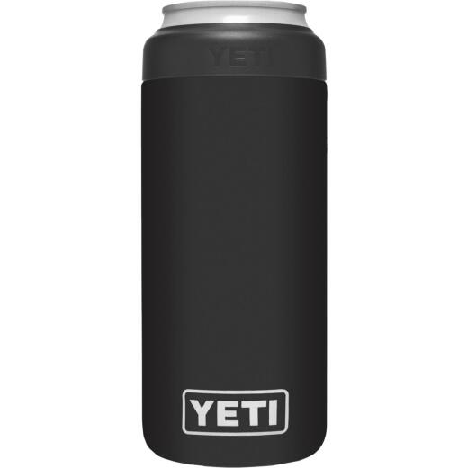 Yeti Rambler Colster Slim 12 Oz. Black Stainless Steel Insulated Drink Holder with Load-And-Lock Gasket